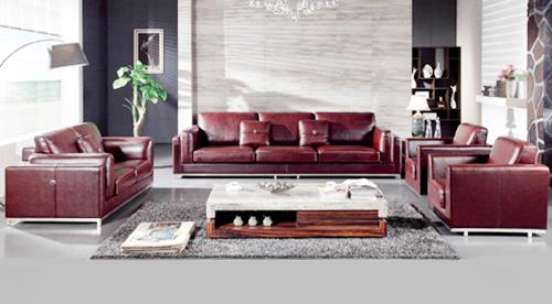 sofa da dành cho phòng khách sang trọng không ngờ