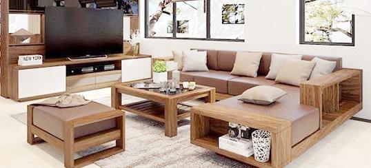 bàn ghế sa lông gỗ