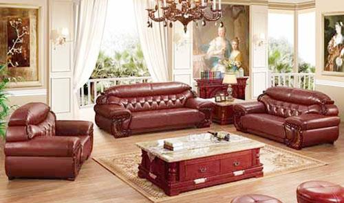 sofa da cổ điển phòng khách