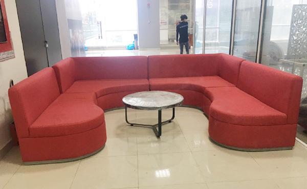 sofa vải nỉ chữ U