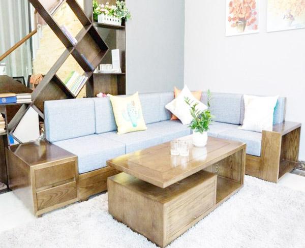 các ưu điểm của sofa gỗ lót đệm