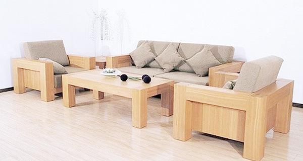 những ưu điểm của sofa gỗ lót nệm