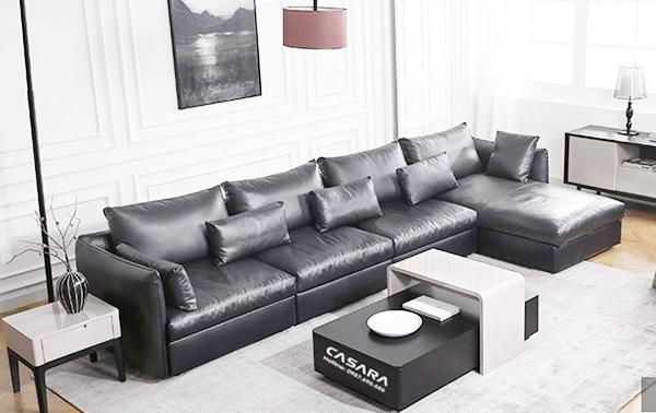 chọn màu ghế sofa phòng khách tương phản màu sơn tường