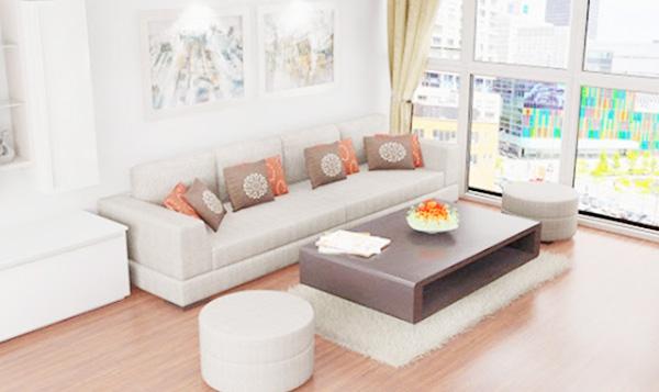 cách bố trí sofa căn hộ đẹp hiện đại