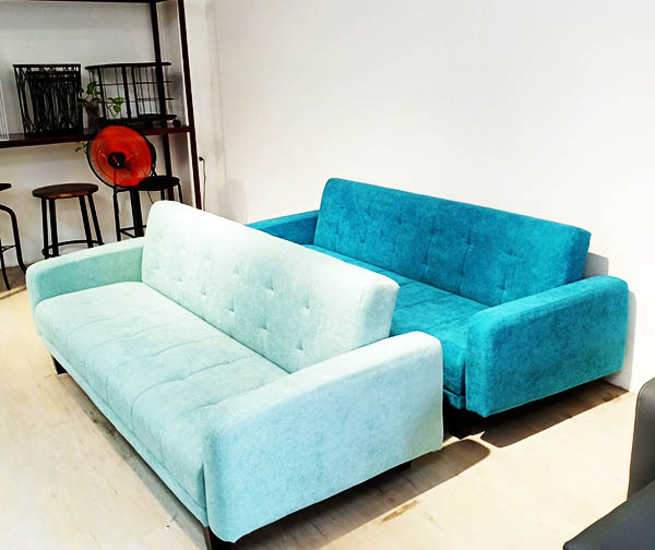 sofa giường màu xanh ngọc cho căn phòng mát mẻ